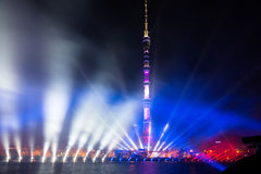 Ostankino. Opening of International festival The Circle of Light. Ostankino, Moscow, Russia - October 10, 2014: the opening of the international festival Circle royalty free stock photo