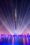 Ostankino. Opening of International festival The Circle of Light. Ostankino, Moscow, Russia - October 10, 2014: the opening of the international festival Circle royalty free stock photography