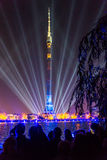 Ostankino. Opening of International festival The Circle of Light. Ostankino, Moscow, Russia - October 10, 2014: the opening of the international festival Circle royalty free stock photos