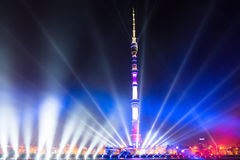 Ostankino. Opening of International festival The Circle of Light. Ostankino, Moscow, Russia - October 10, 2014: the opening of the international festival Circle stock photo
