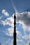 Ostankino television tower in Moscow, Russia. Royalty Free Stock Photo