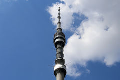 Ostankino television tower in Moscow, Russia. Stock Photo