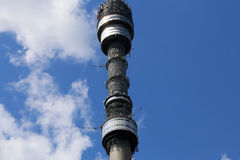 Ostankino television tower in Moscow, Russia Royalty Free Stock Photo
