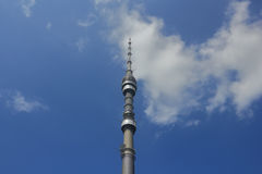Ostankino television tower over the sky Royalty Free Stock Images