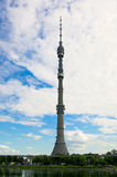 Ostankino tower. Ostankino TV tower, Moscow Royalty Free Stock Photography