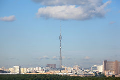 Ostankino tower in moscow. Russia Stock Photo