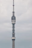 Ostankino TV tower in Moscow against the background of a cloudy sky Royalty Free Stock Photography
