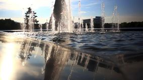 Ostankino TV tower in Moscow. Fountain on stock video footage