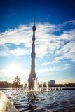 Ostankino TV tower in Moscow Royalty Free Stock Image