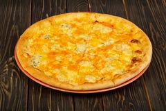 Ostar för pizza fyra Arkivfoton