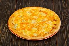 Ostar för pizza fyra Arkivfoto