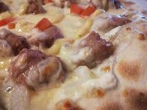 Ostar för pizza 4 stänger sig upp Arkivfoton