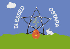 Ostara greeting card Royalty Free Stock Images