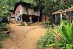 Ostasien-Dorf und Leute - Karen-ethnie in Thailand Stockbilder