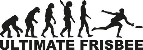 Ostateczna frisbee ewolucja ilustracja wektor