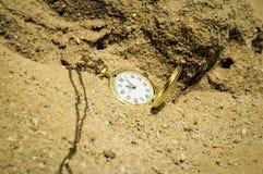 Ostatecznego terminu pojęcia kieszeniowego zegarka tło Zdjęcia Royalty Free