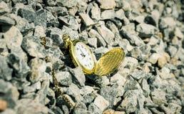 Ostatecznego terminu pojęcia kieszeniowego zegarka tło Obrazy Royalty Free