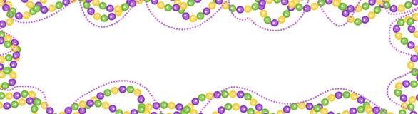 Ostatki koralik barwiąca rama, odosobniona na białym tle Horyzontalny sztandar, granica projekta pożarniczy notatnika szablonu pi royalty ilustracja