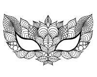 Ostatki koronki maska ilustracji