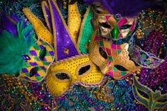 Ostatki maski na ciemnym tle Fotografia Royalty Free