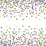 Ostatki tło z confetti royalty ilustracja