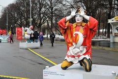Ostatki tygodnia Naleśnikowe dekoracje w Moskwa zdjęcia royalty free