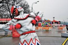 Ostatki tygodnia Naleśnikowe dekoracje w Moskwa fotografia royalty free