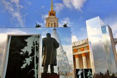 Ostatki tygodnia Naleśnikowe dekoracje w Moskwa mirth zdjęcie stock