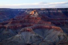Ostatni światło słoneczne w Uroczystego jaru parku narodowym, Arizona Fotografia Royalty Free