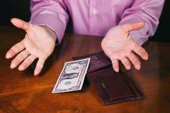 Ostatni dolar w portflu Obraz Stock