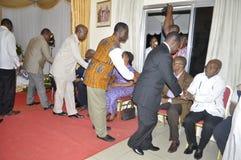 Ostatni dom matka prezydent Laurent Gbagbo Zdjęcie Stock