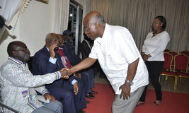 Ostatni dom matka prezydent Laurent Gbagbo Zdjęcia Royalty Free