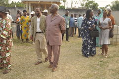 Ostatni dom matka prezydent Laurent Gbagbo Obraz Royalty Free