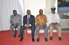 Ostatni dom matka prezydent Laurent Gbagbo Fotografia Stock
