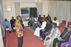 Ostatni dom matka prezydent Laurent Gbagbo Obrazy Royalty Free