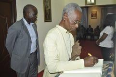 Ostatni dom matka prezydent Laurent Gbagbo Zdjęcie Royalty Free