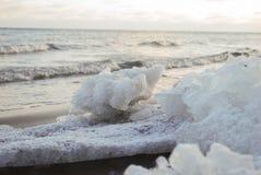 Ostatni lód na morzu bałtyckim, Latvia Obrazy Royalty Free