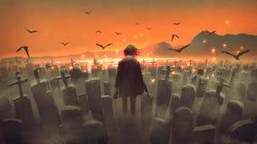 Ostatni mężczyzna na ziemi ilustracji