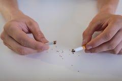 Ostatni papieros w życiu Fotografia Stock