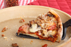 Ostatni pizza plasterek fotografia royalty free