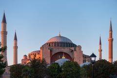 Ostatni promienie iluminuje Hagia Sophia słońce Zdjęcie Royalty Free