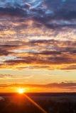 Ostatni promienie słońce Zdjęcia Royalty Free