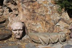 Ostatni rozdział książka Ecclesiastes zakłada przy Gilgal rzeźby ogródem zdjęcie royalty free