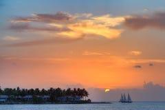Ostatni słońce, Key West, Floryda, usa zdjęcie stock