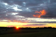 Ostatni słońce promienie Obrazy Royalty Free