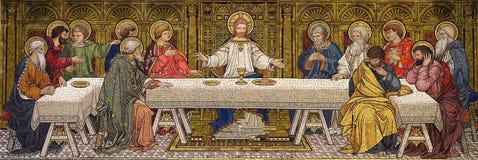 Ostatnia kolacja (mozaika) obrazy royalty free