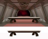 Ostatnia kolacja w galaktycznym środowisku Obrazy Royalty Free