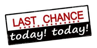 Ostatnia szansa dzisiaj Fotografia Stock