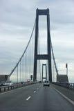 Ostbroen, Denmark. Ostbroen suspension bridge in Denmark Stock Photography