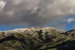 Ostbucht Sans Francisco California nach dem Wintersturm lizenzfreie stockbilder